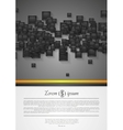 Abstract corporate tech flyer design vector image vector image