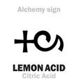 alchemy lemon acid citric acid vector image vector image
