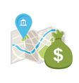 bank location vector image