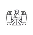 board of directors meeting line icon concept vector image vector image
