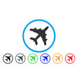 bomber rounded icon vector image