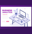 business analytics banner - modern vector image