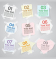 Business paper labels for advertising or for