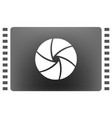 camera shutter icon vector image