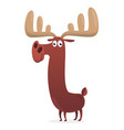 cartoon moose character with big horns vector image vector image