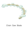 chain saw blade icon isometric 3d style vector image vector image