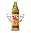 clown orange crayon in a cartoon wallet vector image vector image