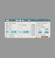 colored realistic flight ticket and boarding pass vector image