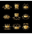 Crown Logo Set vector image vector image