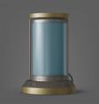 cryonics capsule futuristic container in lab vector image