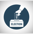 election day concept icon hand putting voting vector image