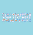 express language course word concepts banner vector image