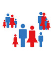 Family icons collection vector image vector image
