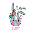 fashion kawaii bunny a vector image