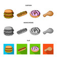 fast food meal and other web icon in cartoon vector image