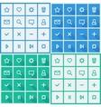Flat UI design elements - set of basic web icons vector image