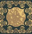 floral arabesque seamless blank frame for vector image