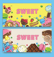 flyer template on baking and sweets vector image
