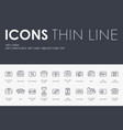 gift cards thin line icons vector image vector image