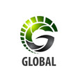global initial letter g logo concept design vector image vector image