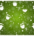 green abstract background with snowflake vector image vector image