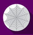 halloween spiderweb flat icon with long shadow vector image vector image