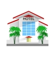 Hotel building Travel and vector image vector image