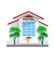 hotel building travel vector image