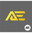 letter a and e logo ae ligature symbol vector image