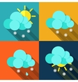 Meteorology weather icons with modern design vector image