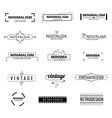 Minimal modern logos vector image vector image