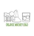 Modern line style logo branding logotype badge wit vector image vector image