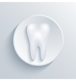 modern tooth light circle icon vector image