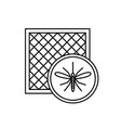 mosquito net icon with window and mosquito vector image vector image
