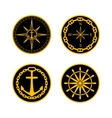 Naval Badges vector image vector image