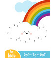 numbers game dot to dot game for children rainbow vector image vector image