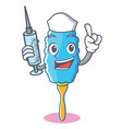 nurse feather duster character cartoon vector image vector image