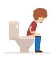 person sick with diarrhea vector image vector image