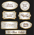promo sale labels collection gold and silver vector image vector image