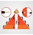 pyramid of bribes vector image