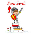 sant jordi traditional festival catalonia spain vector image vector image