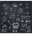 Shopping hand drawn decorative icons set vector image vector image