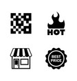 shopping supermarket simple related icons vector image