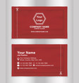 simple business name card red theme sachets packag vector image