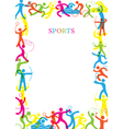 Sports Colorful Frame vector image vector image