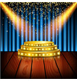 spotlight of shining on stage background vector image vector image