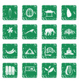 sri lanka travel icons set grunge vector image vector image