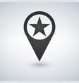 star favorite pin map icon map pointer map vector image vector image
