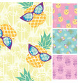 summer trendy seamless patterns of nature tile vector image