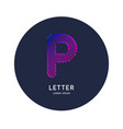 the letter p latin alphabet display vector image
